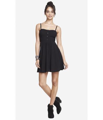 Express Express Womens Cami Sundress  - Black