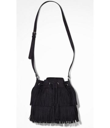 Express Women's Bags Fringed Drawstring Bucket Bag