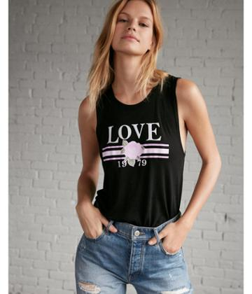 Express Womens Love 1979 Graphic Tank