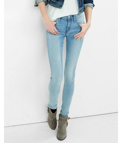 Express Womens Supersoft Faded Mid Rise Jean