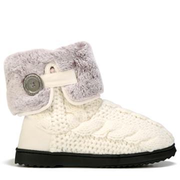 Dearfoams Women's Cable Knit Plush Cuff Bootie Slipper Accessories