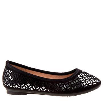 Kensie Girl Kids' Metal Detail Flat Pre/grade School Shoes
