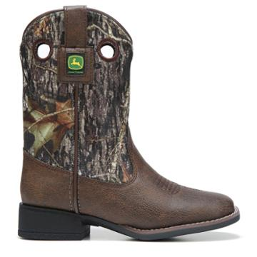 John Deere Kids' Every Day Square Toe Cowboy Boot Toddler/preschool Boots