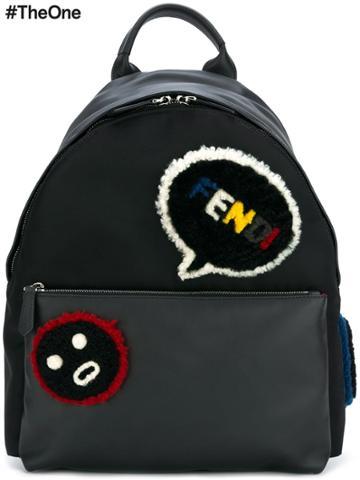 Fendi Faces Backpack - Black