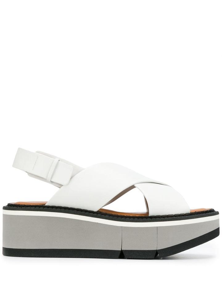 Clergerie Platform Sandals - White