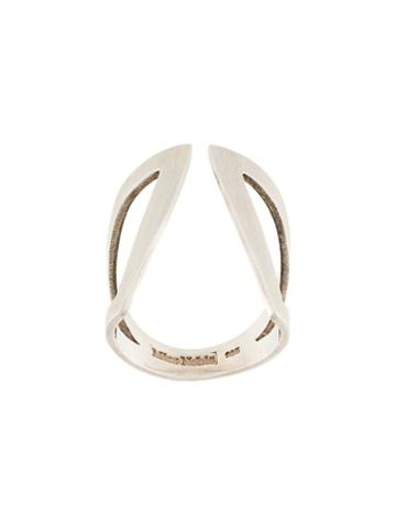 Mies Nobis Cut-out 'claavi' Ring, Adult Unisex, Size: 7, Metallic