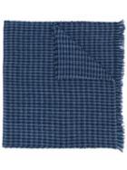 Hackett Check Knit Scarf - Blue