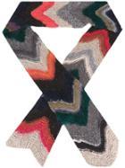 Faliero Sarti Chevron Knit Scarf, Women's, Silk/acrylic/polyamide/wool