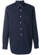 Bellerose Striped Buttondown Shirt - Blue