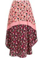 Stella Mccartney Floral Panel Curved-hem Skirt - Black