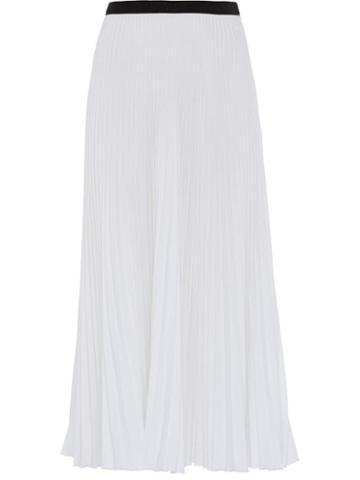 Prada Pleated Midi Skirt - White