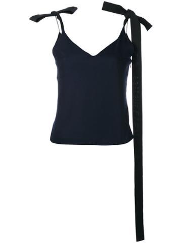 Jacquemus Ribbon-tie Shoulder Camisole, Women's, Size: 40, Blue, Virgin Wool