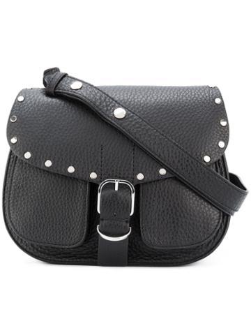 Biker Saddle Bag - Women - Leather - One Size, Black, Leather, Rebecca Minkoff