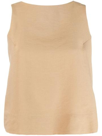 Song For The Mute Distressed Style Vest - Neutrals