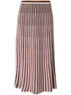 Christian Wijnants Striped Midi Skirt - Multicolour