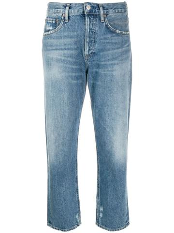 Agolde Medium Parker Straight Denim Jeans - Blue