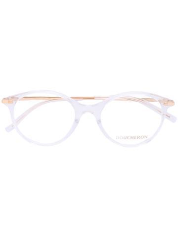 Boucheron Oval Frame Glasses - White