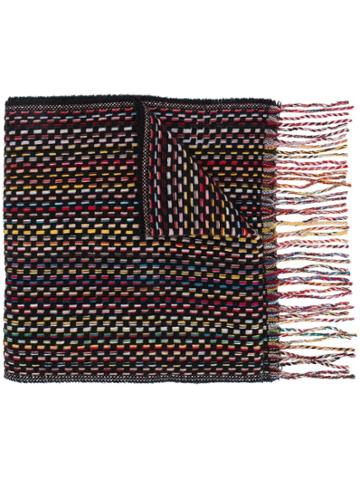 Paul Smith Long Knitted Scarf - Black