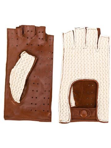 Gala Gloves Fingerless Driving Gloves - Neutrals