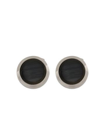 Rt By Tate Tateossian Bullseye Glass Cufflinks - Black