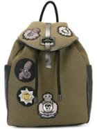 Alexander Mcqueen Military Badge Backpack