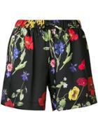 Blugirl Floral Print Shorts - Black