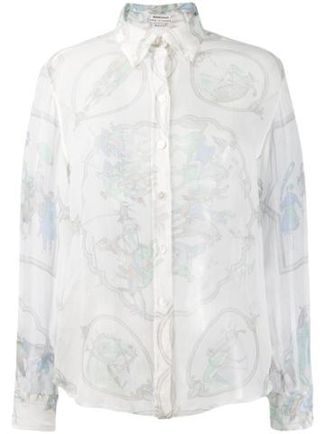 Hermès Pre-owned Lace Organza Shirt - White