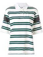 Koché Striped Polo Shirt - Green