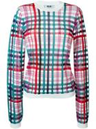 Msgm Checked Sheer Sweater
