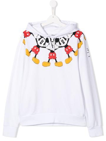 Marcelo Burlon County Of Milan Kids Mickey Mouse Sweatshirt - White