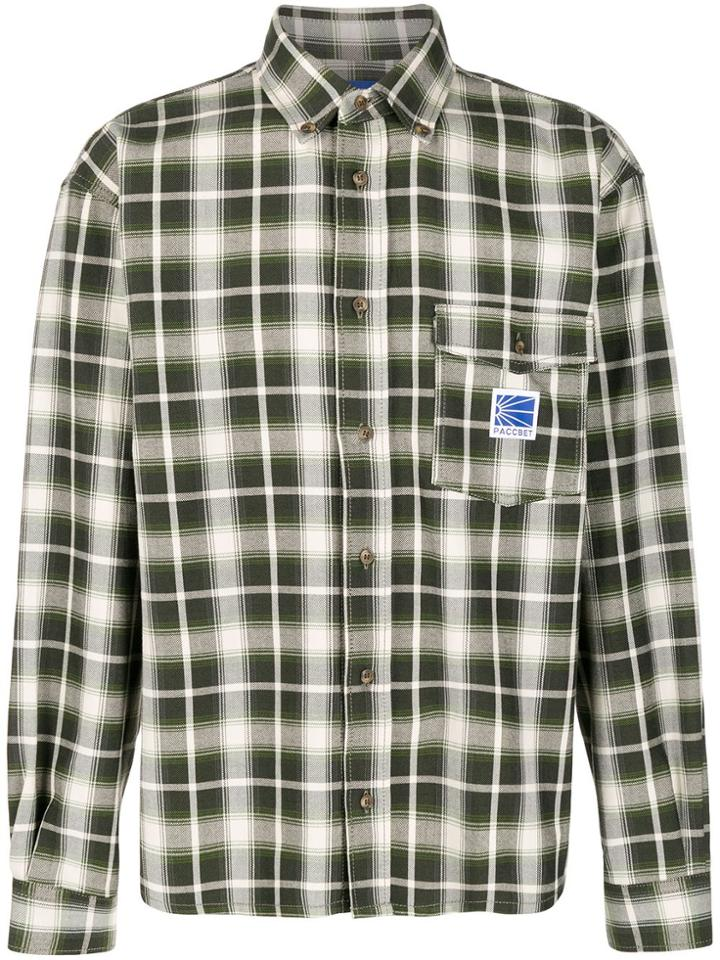 Rassvet Long Sleeve Checked Print Shirt - Green