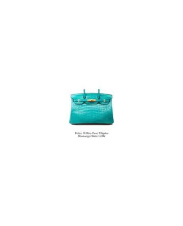 Fashion Concierge Vip Hermès - Birkin 30 Alligator Bleu Paon Ghw -