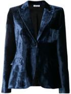 P.a.r.o.s.h. Velvet Fitted Blazer - Blue