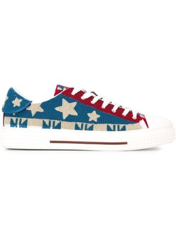 Valentino Garavani Embroidered Star Sneakers