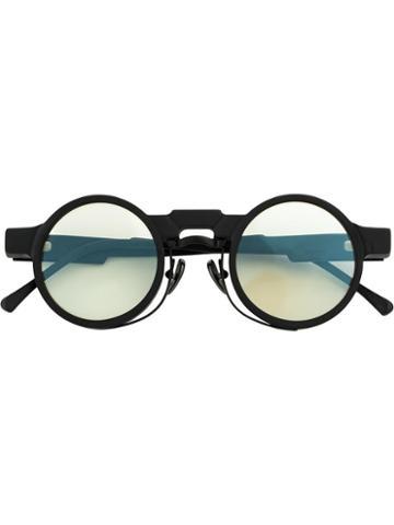 Kuboraum Round Frame Glasses, Black, Acetate/metal/glass