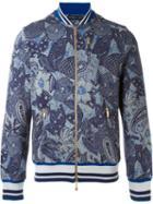Etro Floral Print Sweatshirt, Men's, Size: Xl, Blue, Cotton/polyamide