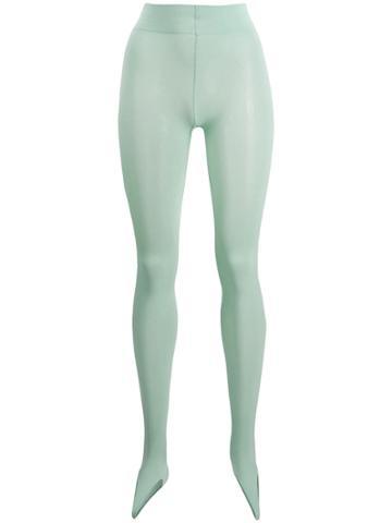 Wolford Toe Fusion Leggings - Green
