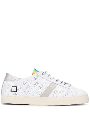 D.a.t.e. Logo Perforated Sneakers - White