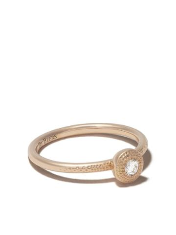 De Beers 18kt Rose Gold Talisman Round Brilliant Diamond Ring