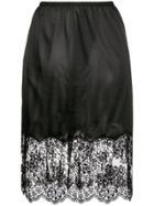 Stella Mccartney Flared Lace Skirt - Black