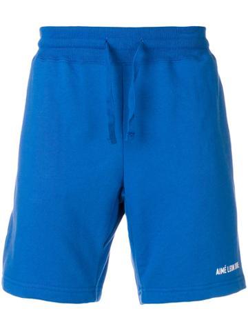 Aimé Leon Dore Drawstring Jersey Shorts - Blue