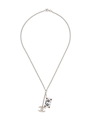 Chanel Vintage Cassette Tape Short Necklace - Metallic