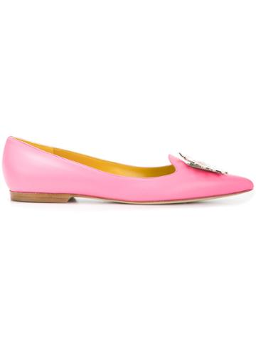 Emilio Pucci Embellished Slippers - Pink & Purple