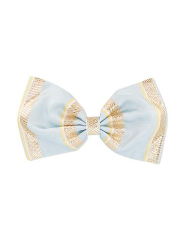 Hucklebones London - Giant Bow Hairclip - Kids - Polyester/acetate/metallized Polyester - One Size, Blue