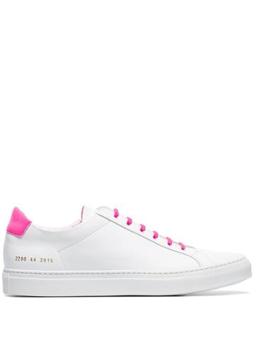 Common Projects White Retro Contrasting Laces Low-top Leather Sneakers