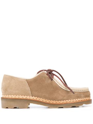 Ymc Lace-up Colour Blocked Loafers - Neutrals