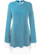 Marques'almeida Mesh Overlay Dress - Blue