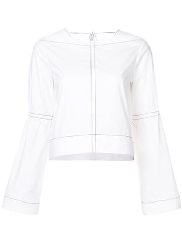 Derek Lam 10 Crosby - Classic Shift Top - Women - Cotton - 12, White, Cotton