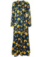 Altuzarra Floral Print Button Down Dress - Blue