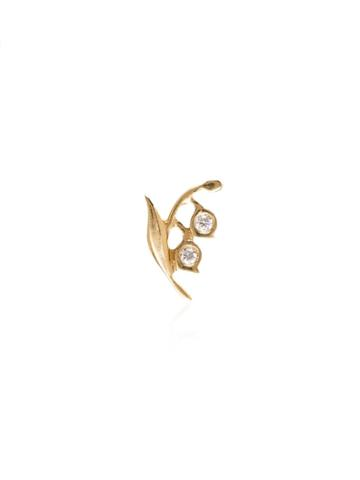 Loquet 18kt Yellow Gold Lily Diamond Charm